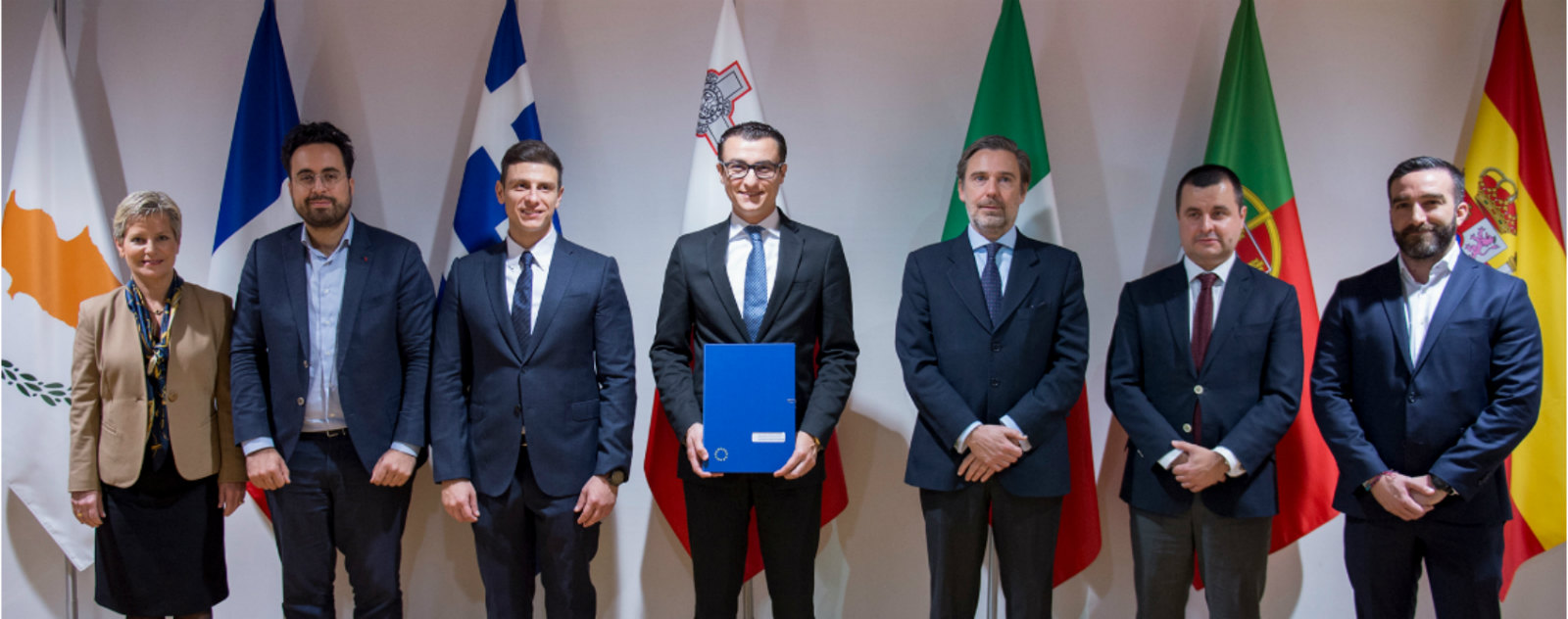 Signing of the MED7 Declaration on Blockchain